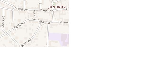 Olšová v obci Brno - mapa ulice