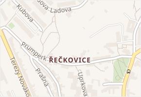 Řečkovice v obci Brno - mapa části obce
