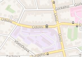 Údolní v obci Brno - mapa ulice