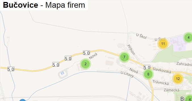 Bučovice - mapa firem