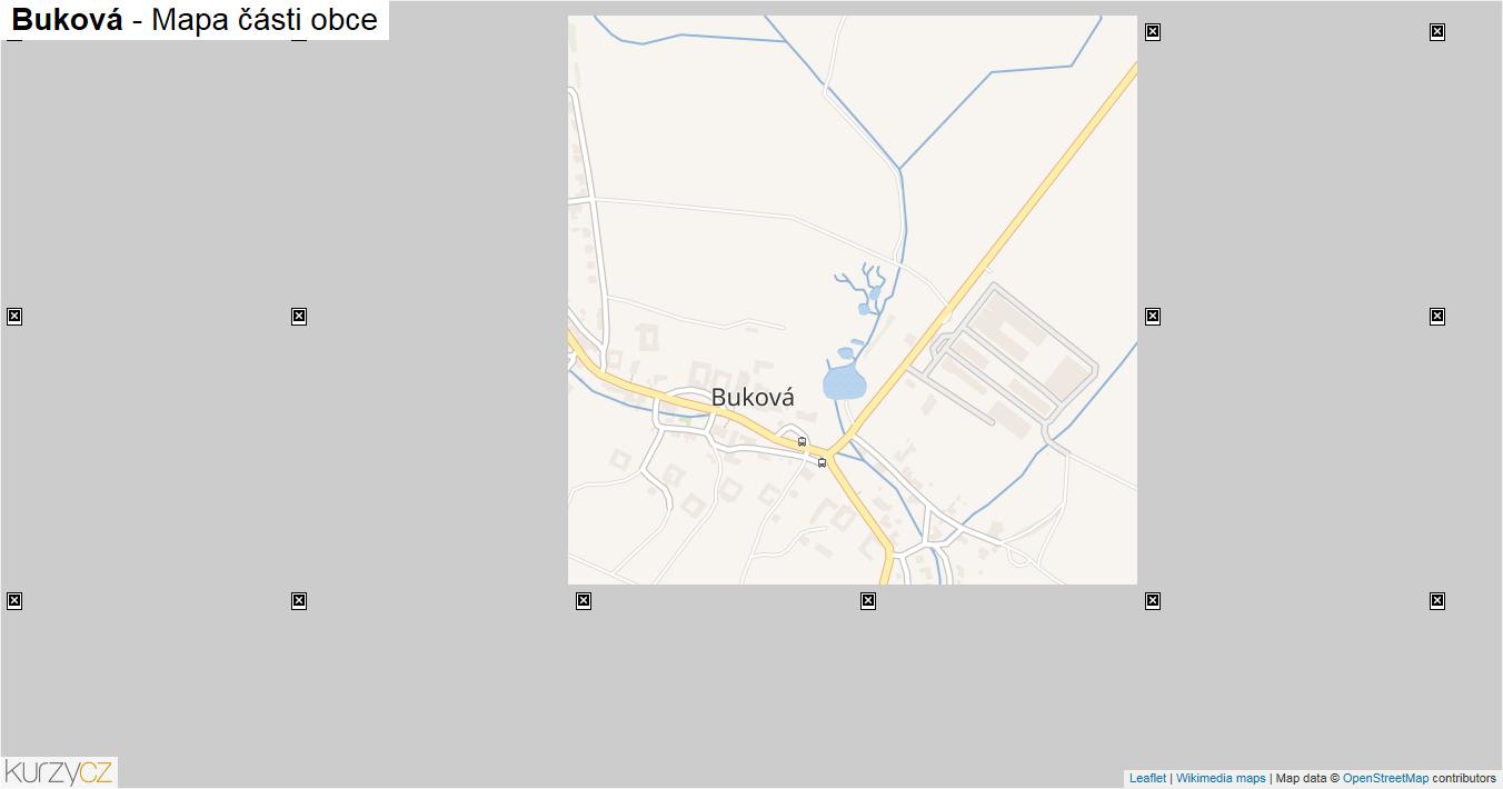 Buková - mapa části obce