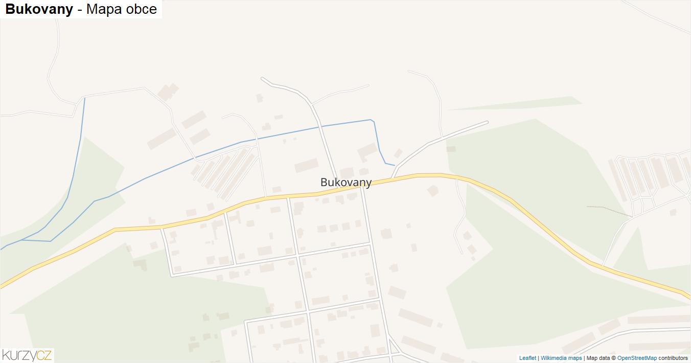 Bukovany - mapa obce