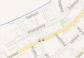 Prokopova v obci Buštěhrad - mapa ulice