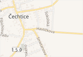 Havlíčkova v obci Čechtice - mapa ulice