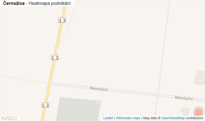 Mapa Černožice - Firmy v obci.