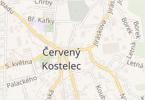 Boženy Němcové v obci Červený Kostelec - mapa ulice