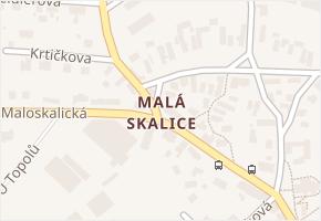 Malá Skalice v obci Česká Skalice - mapa části obce
