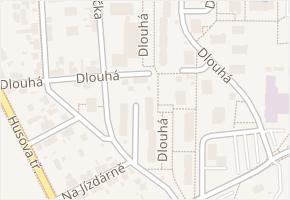 Dlouhá v obci České Budějovice - mapa ulice