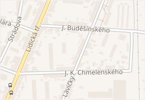 J. Buděšínského v obci České Budějovice - mapa ulice