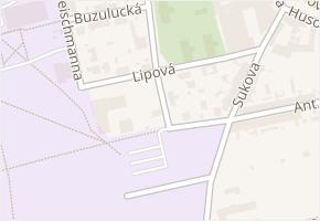 Lipová v obci České Budějovice - mapa ulice