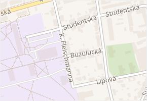 Studentská v obci České Budějovice - mapa ulice