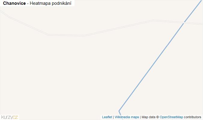 Mapa Chanovice - Firmy v obci.