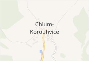 Chlum v obci Chlum-Korouhvice - mapa části obce