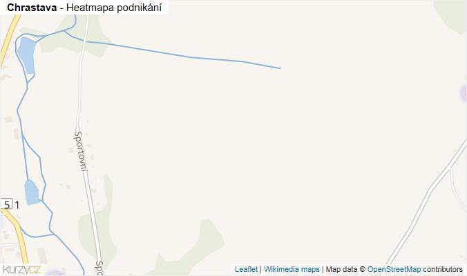 Mapa Chrastava - Firmy v obci.