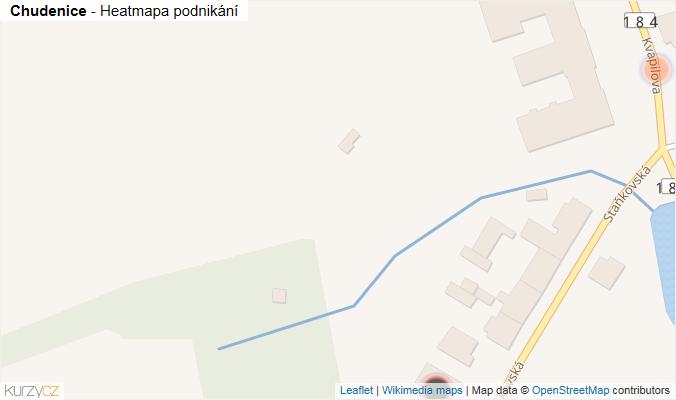 Mapa Chudenice - Firmy v obci.