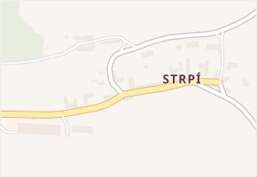 Strpí v obci Číčenice - mapa části obce