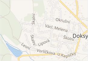 Hornická v obci Doksy - mapa ulice