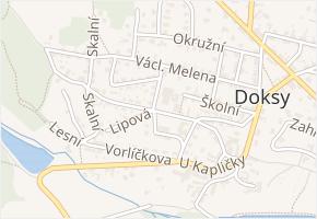 Sokolská v obci Doksy - mapa ulice