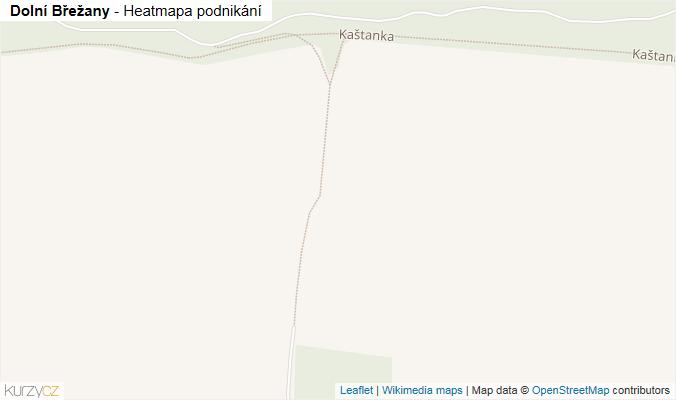 Mapa Dolní Břežany - Firmy v obci.