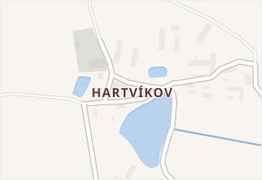 Hartvíkov v obci Dolní Hořice - mapa části obce
