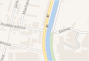 nábřeží Benešovo v obci Dvůr Králové nad Labem - mapa ulice