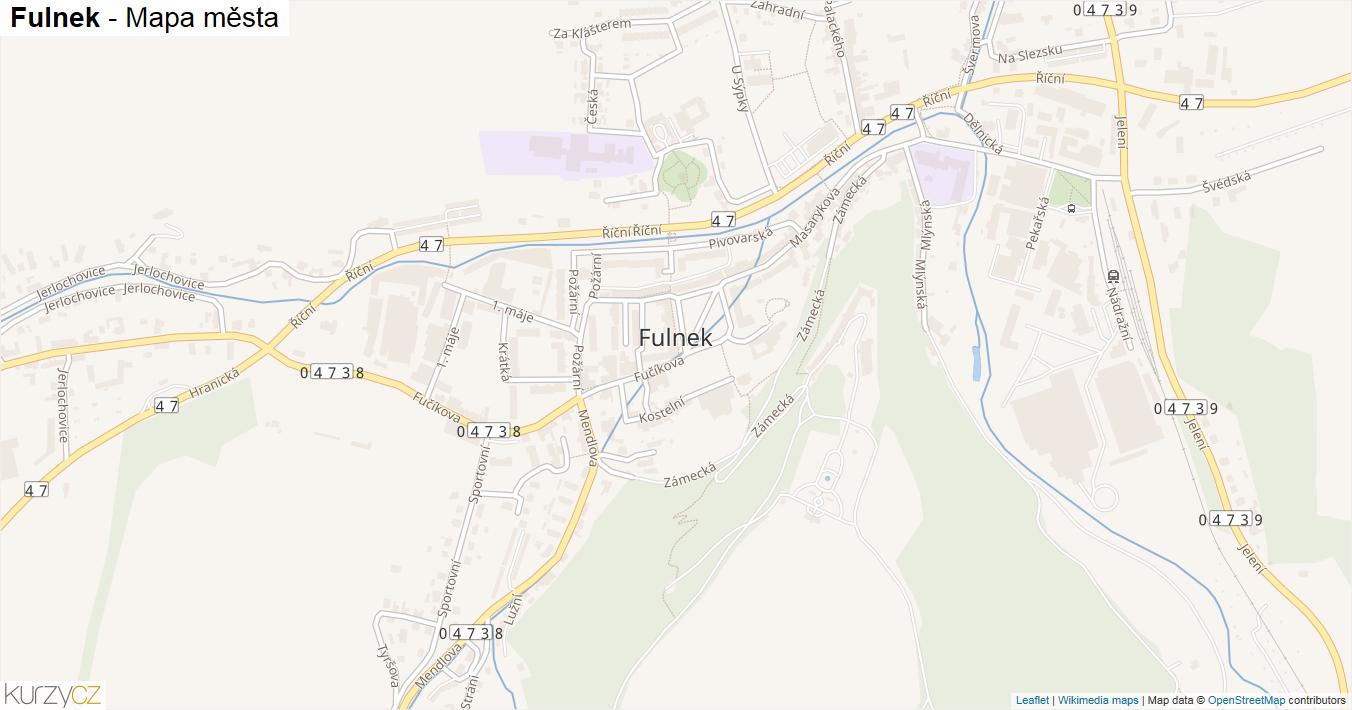 Fulnek - mapa města