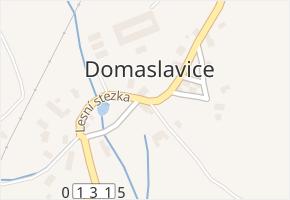Domaslavice v obci Háj u Duchcova - mapa části obce