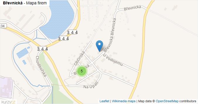 Mapa Břevnická - Firmy v ulici.
