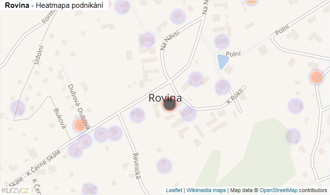 Mapa Rovina - Firmy v části obce.