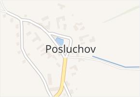 Posluchov v obci Hlubočky - mapa části obce