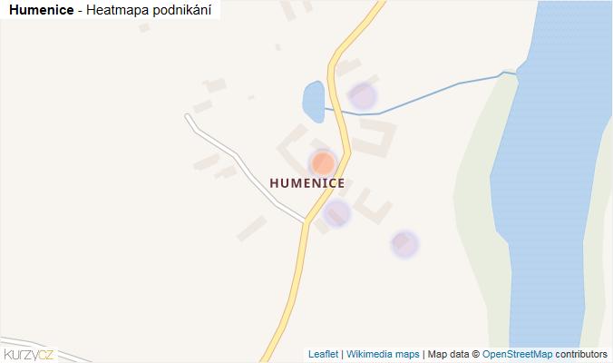 Mapa Humenice - Firmy v části obce.