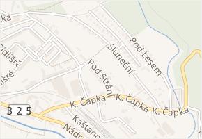 Pod Strání v obci Hostinné - mapa ulice