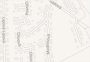 Modřínová v obci Hostivice - mapa ulice
