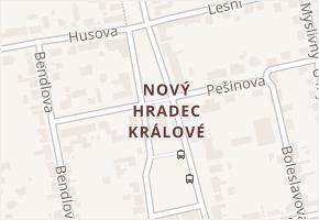 Nový Hradec Králové v obci Hradec Králové - mapa části obce