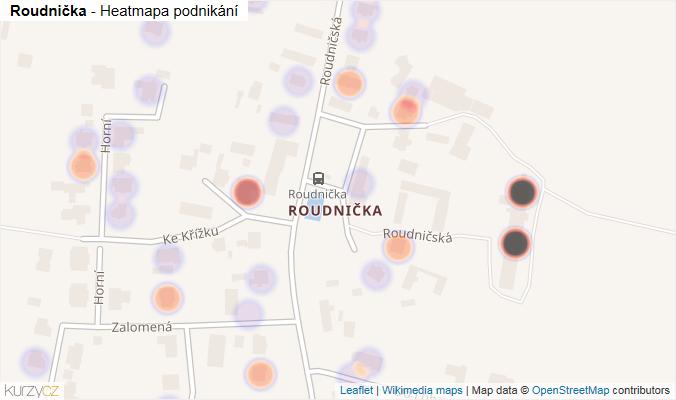 Mapa Roudnička - Firmy v části obce.