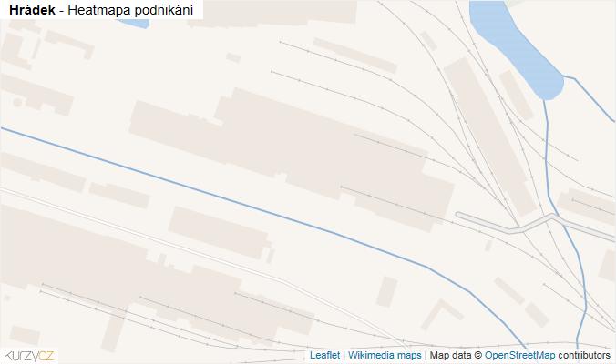 Mapa Hrádek - Firmy v obci.