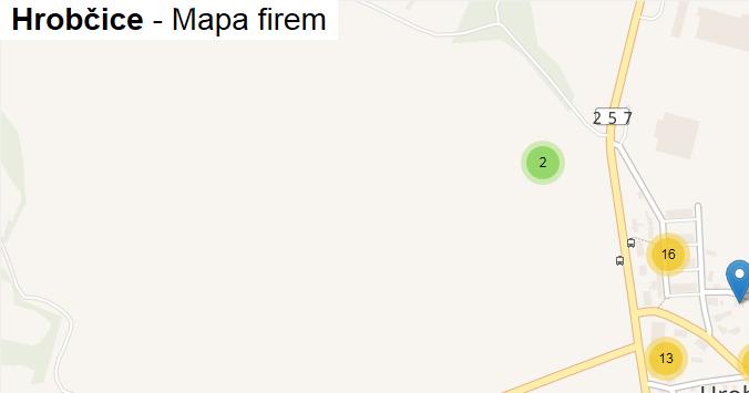 Hrobčice - mapa firem