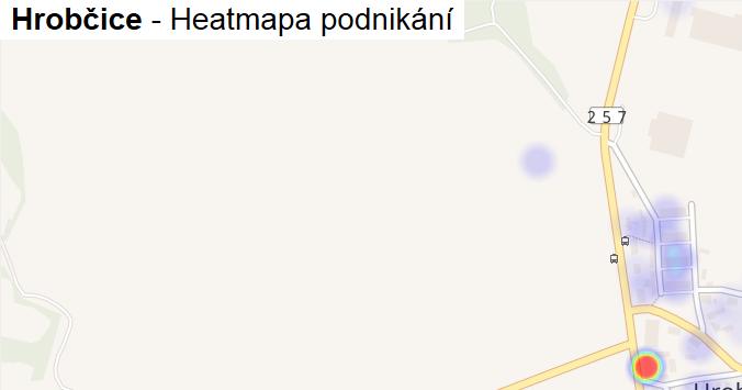 Hrobčice - mapa podnikání