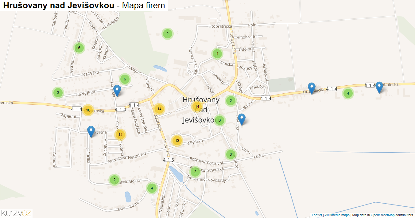 Hrušovany nad Jevišovkou - mapa firem