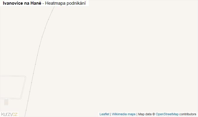 Mapa Ivanovice na Hané - Firmy v obci.