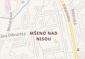 Mšeno nad Nisou v obci Jablonec nad Nisou - mapa části obce