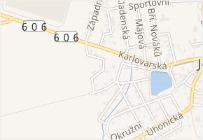 Unhošťská v obci Jeneč - mapa ulice