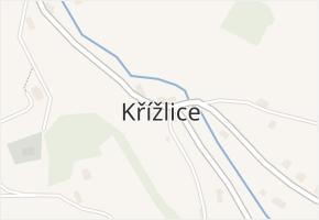 Křížlice v obci Jestřabí v Krkonoších - mapa části obce