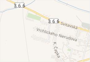 Vrchlického v obci Jevíčko - mapa ulice