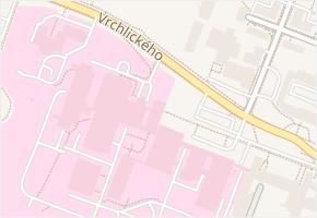 Vrchlického v obci Jihlava - mapa ulice