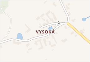 Vysoká v obci Jihlava - mapa části obce