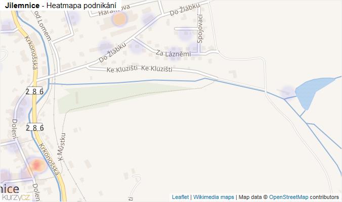 Mapa Jilemnice - Firmy v obci.