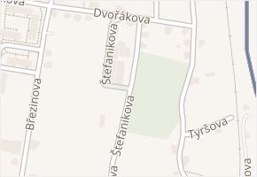 Štefanikova v obci Jiříkov - mapa ulice