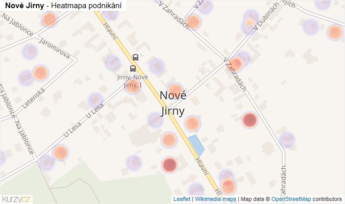 Mapa Nové Jirny - Firmy v části obce.