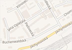 Vodárenská v obci Karlovy Vary - mapa ulice
